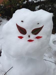 娘ちゃん作 雪だるま